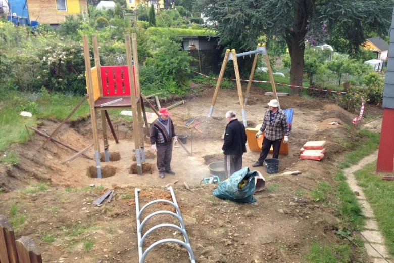 Aufbau Spielturm